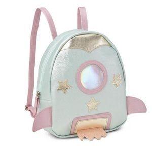 Handbags - Cute pink spaceship medium backpack NEW Shiny HOLO